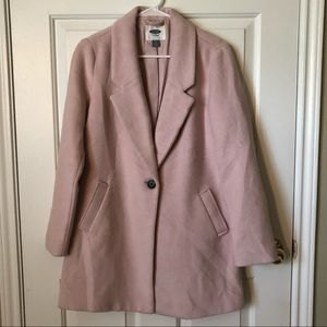 Blush Pink Pea Coat Jacket Old Navy